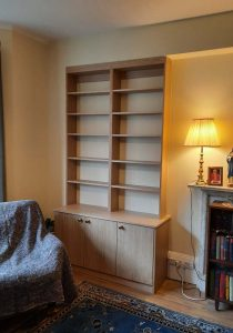 3 door cupboards with bookshelves