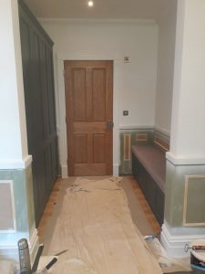 hand painted cloakroom