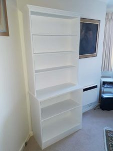 handpainted bookshelf